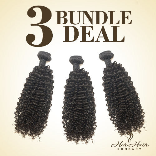 Brazilian Kinky Curly Hair 3 Bundle Deal