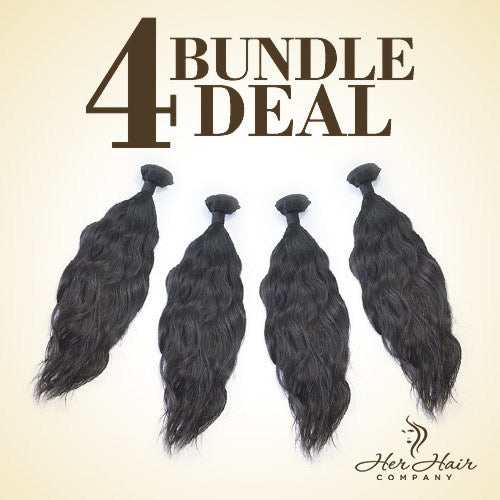Brazilian Wavy Hair 4 Bundle Deal