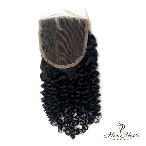 Brazilian Kinky Curly Lace Closure 14''