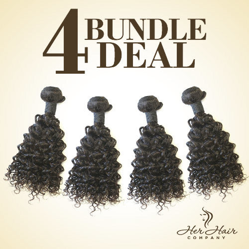 Brazilian Curly Hair 4 Bundle Deal