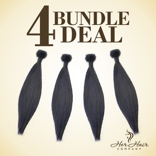 Brazilian Straight Hair 4 Bundle Deal