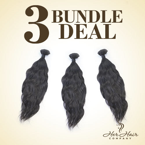 Brazilian Wavy Hair 3 Bundle Deal