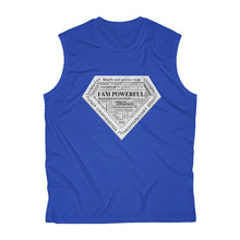 Load image into Gallery viewer, I AM POWERFUL (silver) Men's Sleeveless Performance Tee