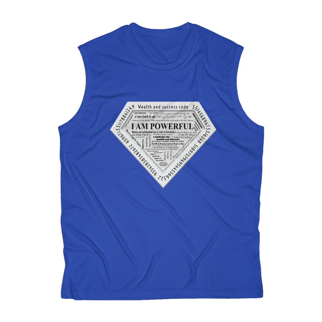 I AM POWERFUL (silver) Men's Sleeveless Performance Tee