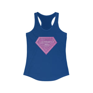 I AM Powerful (Purple) Women's Racerback Tank