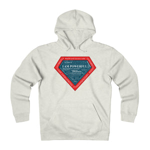 I AM POWERFUL (blue) Heavyweight Fleece Hoodie