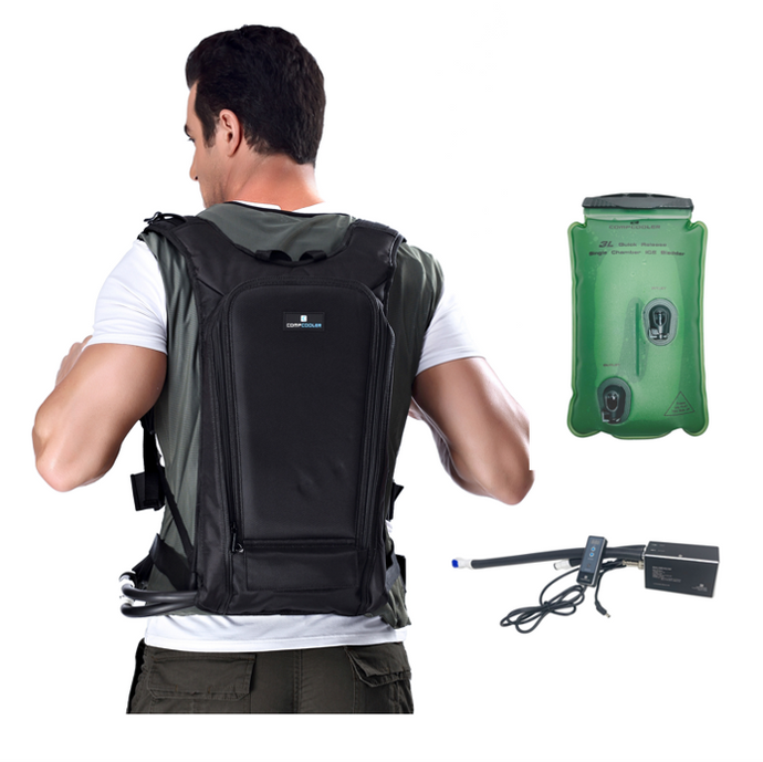COMPCOOLER Backpack ICE Water Cooling System 3.0 L Detachable Bladder Flow Control Mode