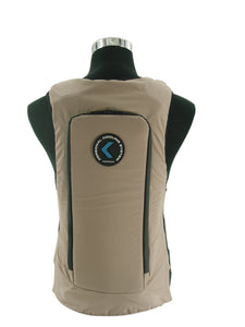CompCooler UniVest ICE Cooling System with 2.5L Dual Chambers Hydration Bladder (Beige)
