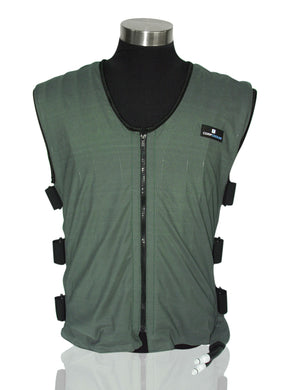 COMPCOOLER Mesh Liquid Cooling Vest (Outer Olive and Liner Black)