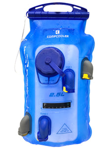 COMPCOOLER  Hiker & Biker Hydration Cooling Backpack 2.5L Dual Chamber Hydration Bladder ON/OFF Mode