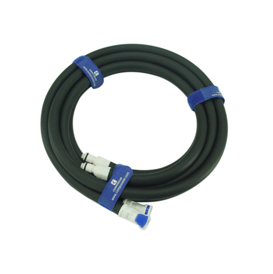 COMPCOOLER Extension Tubing with 2 Male and 2 Female Quick Fittings without sleeve protection
