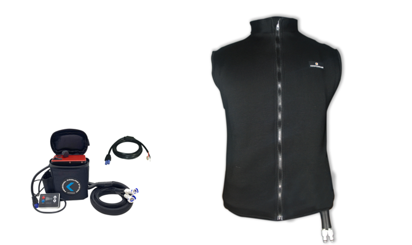 COMPCOOLER  12V 120W Motorcycle Rider Handcarry Liquid Heating Unit and Liquid Heating Vest