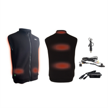 Load image into Gallery viewer, COMPCOOLER Motorcycle Rider Graphene Heating Vest 12V Vehicle Power Operated