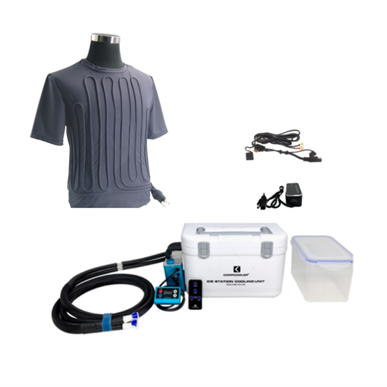 Compcooler Racing Driver Solo Cooling System Liquid Cooling T-shirt with Temp Control Operated by 12V Vehicle Power