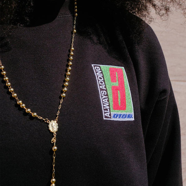 Always Adding Crewneck (Black) - 0106.