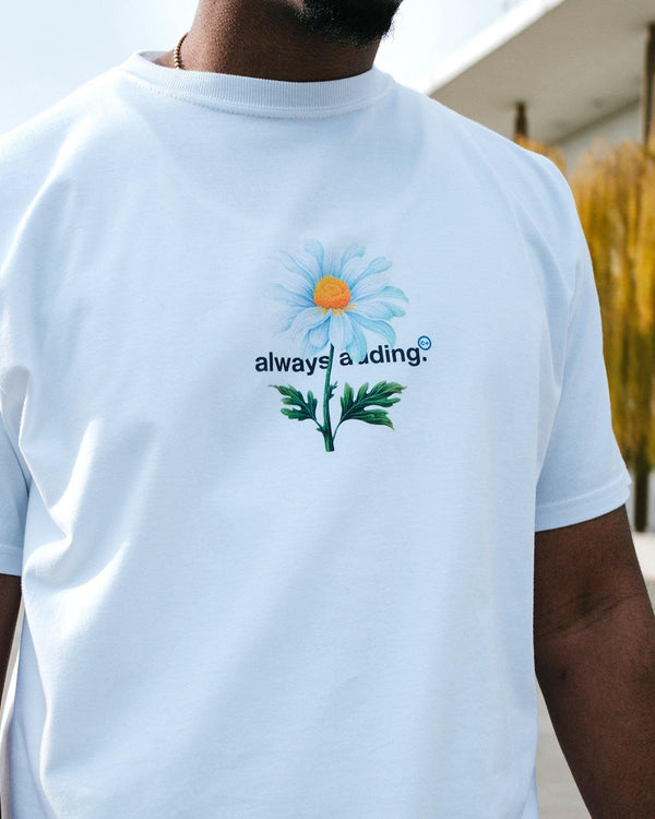 "Always Adding ""Growth"" Tee (White) - 0106."