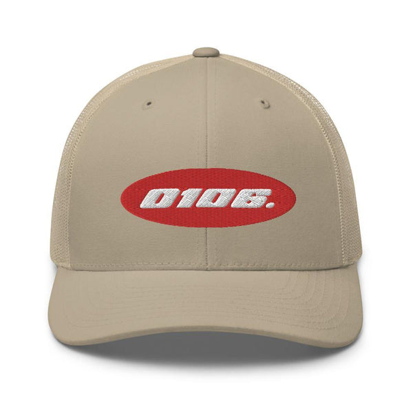Badge Trucker Cap (Khaki) - 0106.