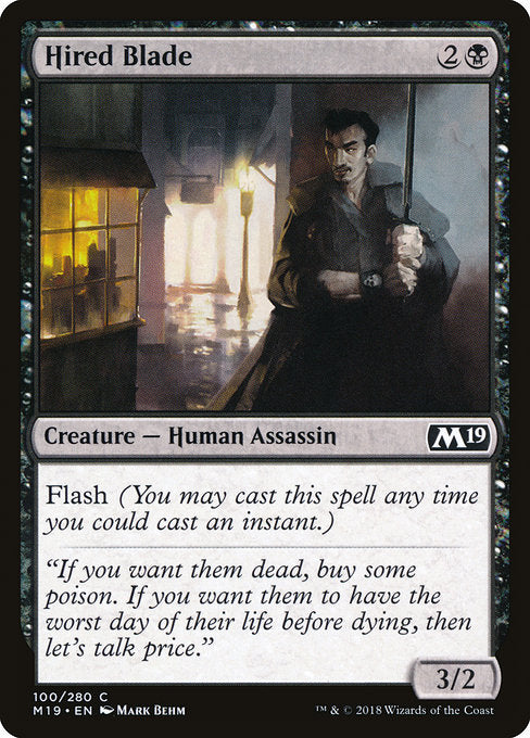 Hired Blade [Core Set 2019]