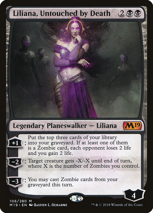 Liliana, Untouched by Death [Core Set 2019] | Guf