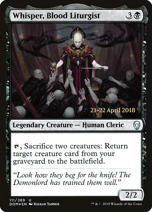Whisper, Blood Liturgist [Dominaria Promos] | Guf