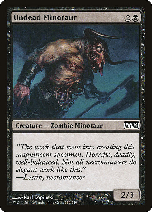Undead Minotaur [Magic 2014] | Guf