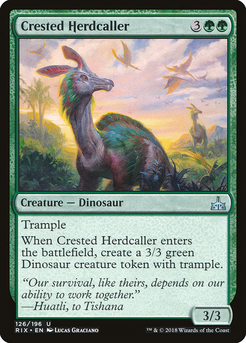 Crested Herdcaller [Rivals of Ixalan]