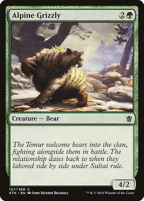 Alpine Grizzly [Khans of Tarkir]