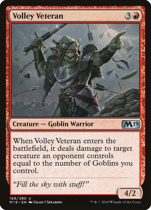 Volley Veteran [Core Set 2019] | Guf