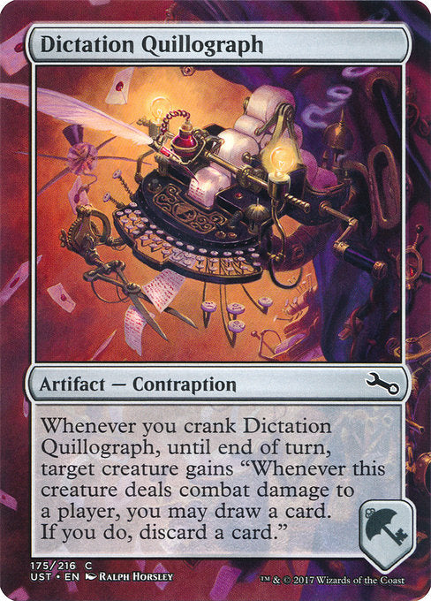 Dictation Quillograph [Unstable] | Guf