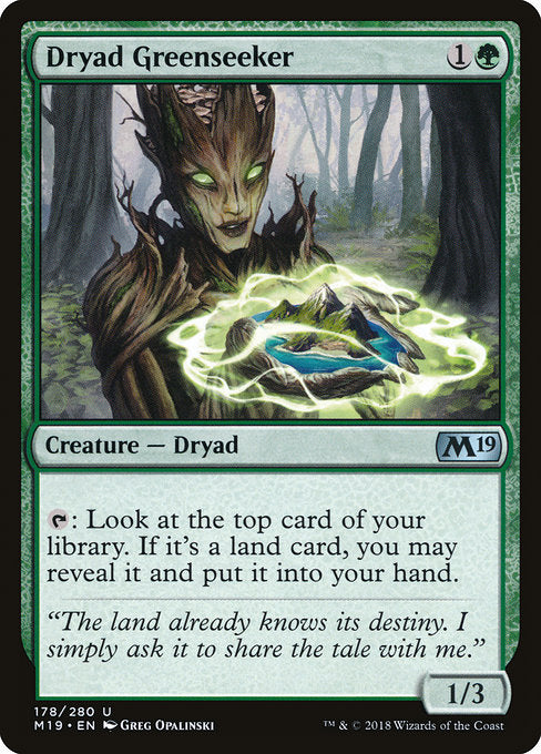 Dryad Greenseeker [Core Set 2019] | Guf