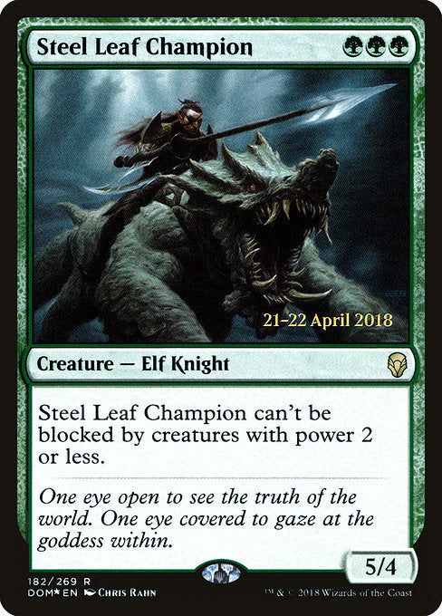 Steel Leaf Champion [Dominaria Promos] | Guf
