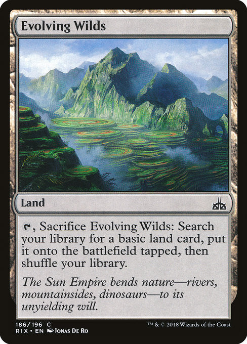 Evolving Wilds [Rivals of Ixalan] | Guf
