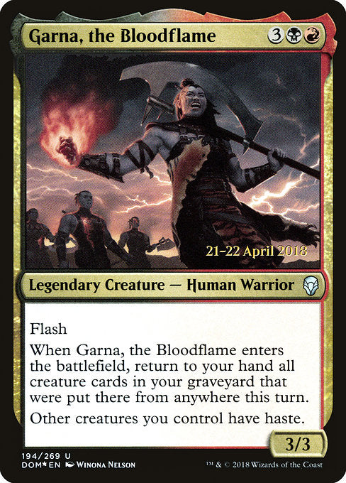 Garna, the Bloodflame [Dominaria Promos] | Guf