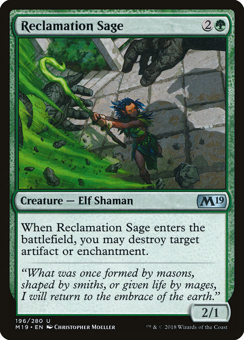 Reclamation Sage [Core Set 2019] | Guf