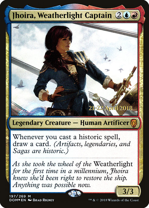 Jhoira, Weatherlight Captain [Dominaria Promos]