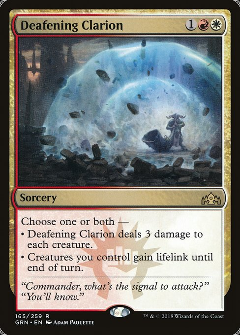 Deafening Clarion [Guilds of Ravnica]
