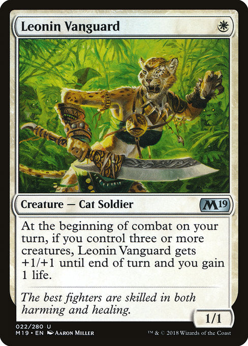 Leonin Vanguard [Core Set 2019] | Guf