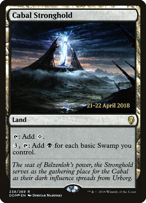 Cabal Stronghold [Dominaria Promos]