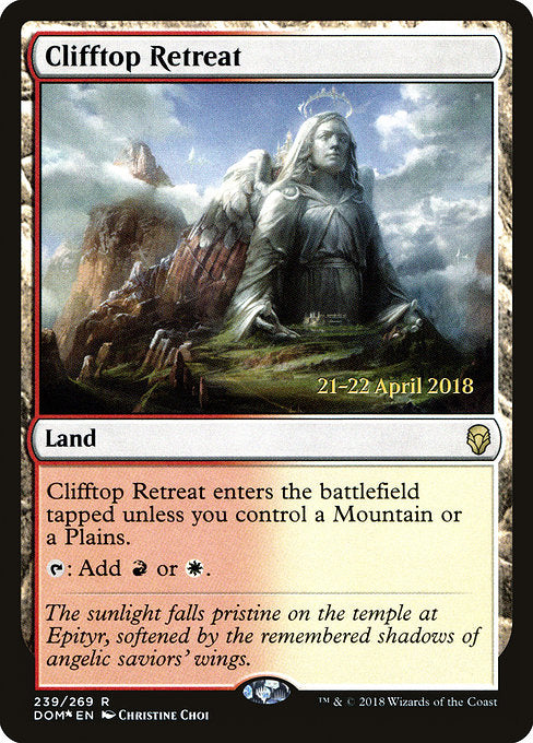 Clifftop Retreat [Dominaria Promos] | Guf