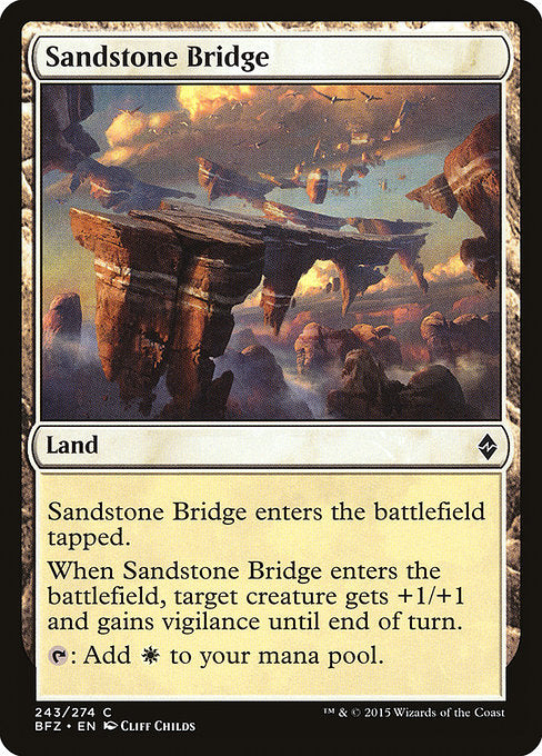 Sandstone Bridge [Battle for Zendikar] | Guf
