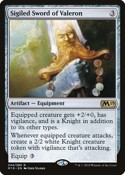 Sigiled Sword of Valeron [Core Set 2019]