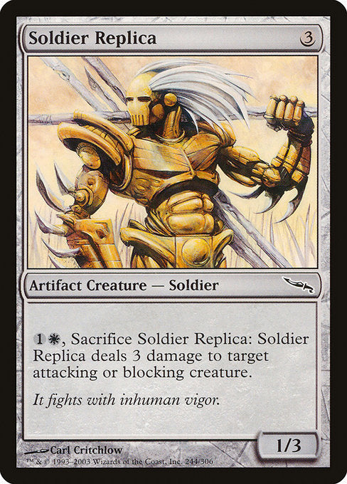 Soldier Replica [Mirrodin] | Guf