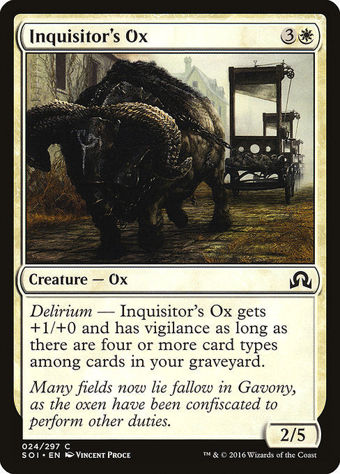 Inquisitor's Ox [Shadows over Innistrad] | Guf