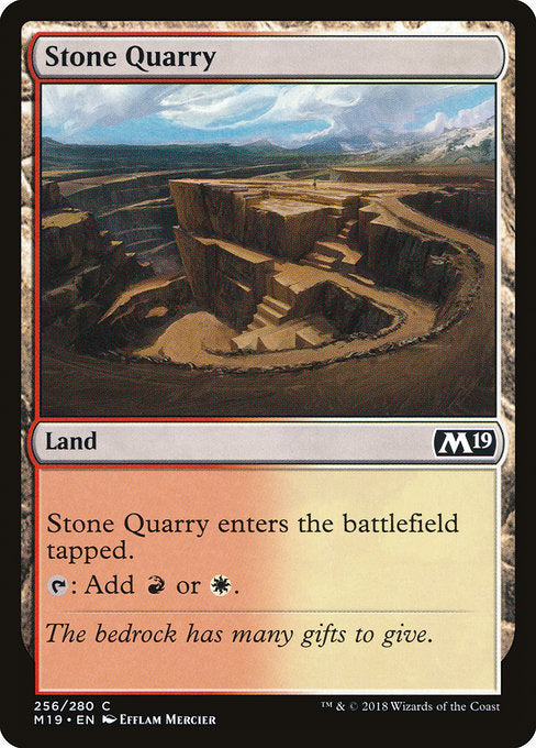 Stone Quarry [Core Set 2019] | Guf