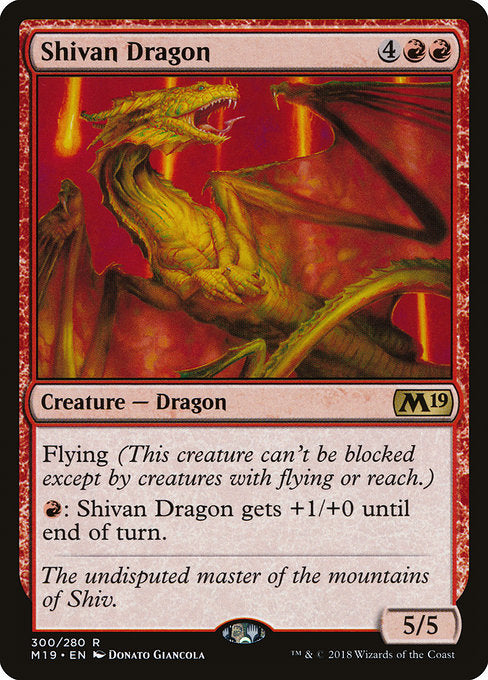 Shivan Dragon [Core Set 2019] | Guf