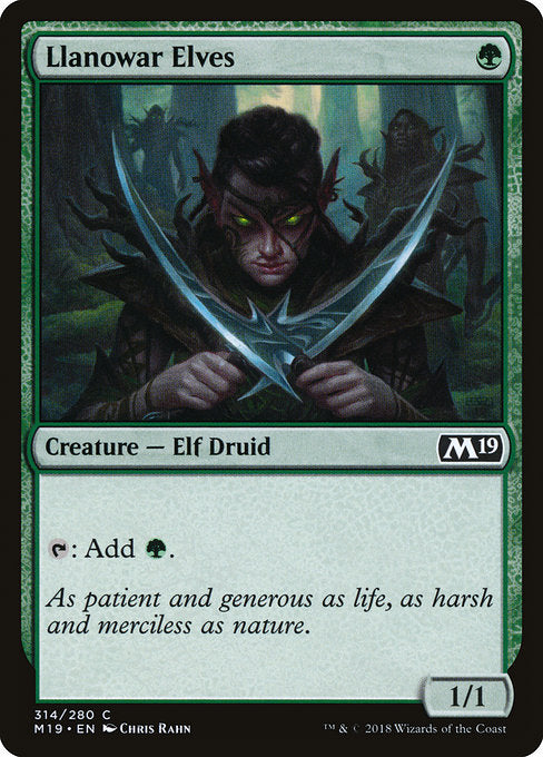 Llanowar Elves [Core Set 2019]