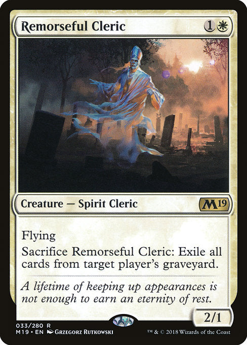 Remorseful Cleric [Core Set 2019] | Guf