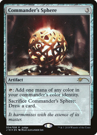Commander's Sphere [Judge Gift Cards 2018] | Guf