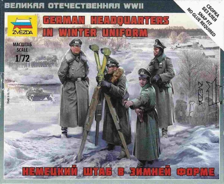 Zvezda 6232 1/72 German HQ Winter Plastic Model Kit | Guf