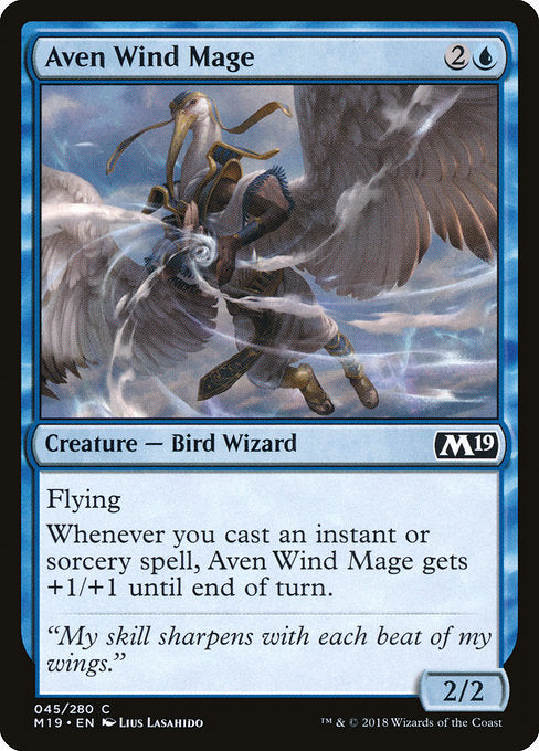 Aven Wind Mage [Core Set 2019] | Guf